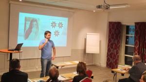 Ordfører i Selbu, Ole Morten Balstad, på Midt-Norsk Lokalradiokonferanse. Foto: Kyrre Dahl