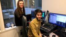 Hanne Fjeldberg og Tommy Novik er Radio 3 Bodøs ansatte. (Foto: Pål Lomeland)