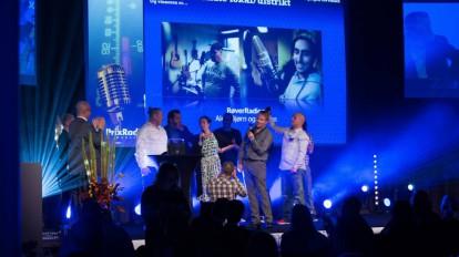 Røverradioen vinner årets lokale/regionale sendeflate under Prix Radio 2016 (Foto: Lasse Mørkhagen / radiodager.no)