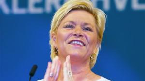 Foto: Siv Jensen åpner landsmøtet i Fremskrittspartiet (Foto: Børge Sandnes)