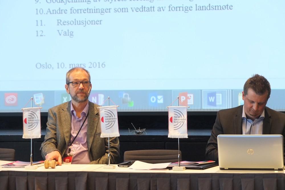 Ivar Eiken var ordstyrer under landsmøteforhandlignene, sammen med generalsekretær Pål Lomeland