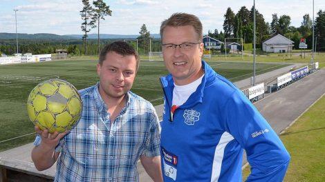 Bjørn-Martin Brandett i SolørRadioen (til venstre) og Tore Huuse Øwre i Flisa AIL
