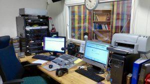 Fra Misjonsradioens nye studio i Sandefjord