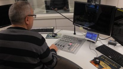 Studio i Radio Trøndelag. Foto: Kyrre Dahl