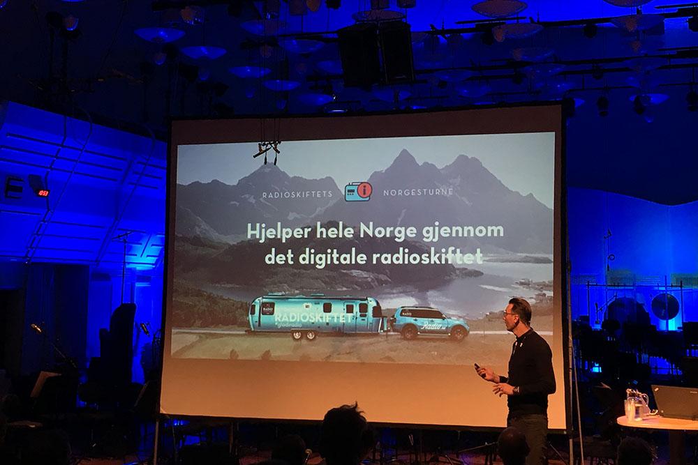 Tommy Gaustad i Digitalradio Norge forteller at man nå skal nå folket med et rullende kontor