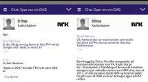 Skjermbilde fra NRK-chat