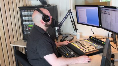 Studio i Radio Sør, Foto: Kyrre Dahl