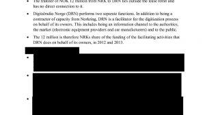 En del av brevet til ESA fra Næringsdepartementet november 2016